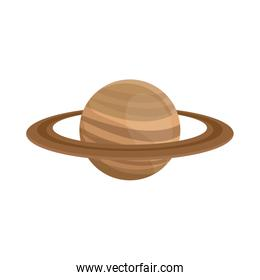 planet saturn with planetary ring system astronomy