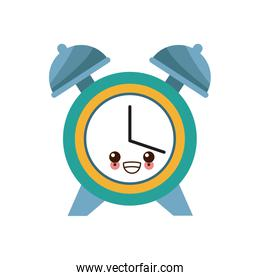Clock with bells cute kawaii style icon