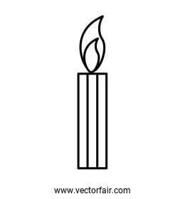 Candle isolated symbol