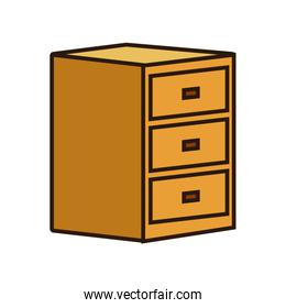 Wooden drawer isolated