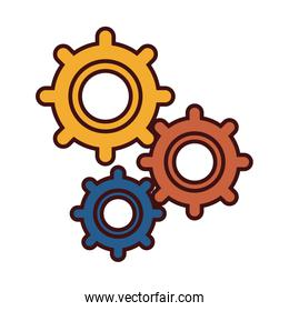 Gears machinery pieces