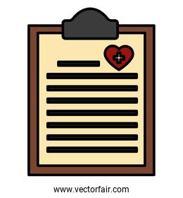 Medical document isolated