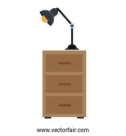 Office cabinet with lightlamp