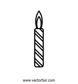 Birthday candle isolated