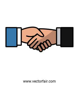 Business handshake symbol