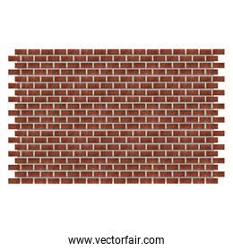 Bricks wall isolated