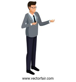 Businessman isometric isolated 3d