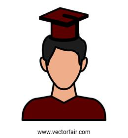 Student with hat avatar