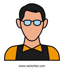 Man with glasses avatar