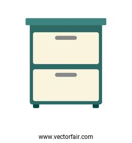 Office cabinet isolated