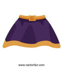 Witch skirt isolated