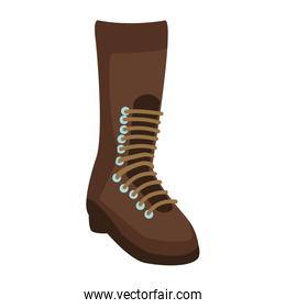 military boot isolated