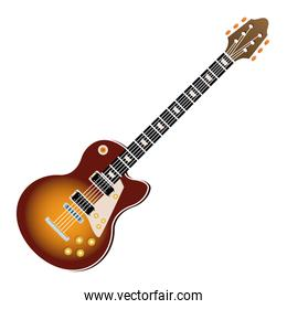Electric guitar music instrument realistic icon