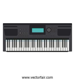 Music keyboard instrument realistic icon