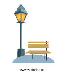 Chair and street light