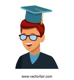 Student man with graduation hat