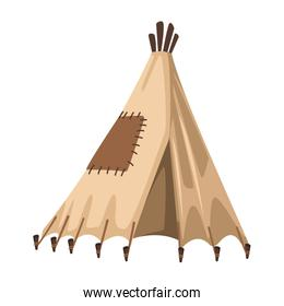 Indian tent isolated