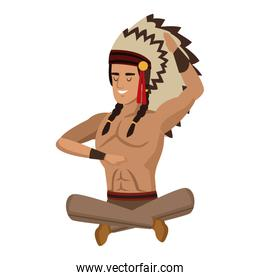 American indian seated