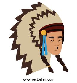 American indian face