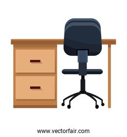 desk and chair office work