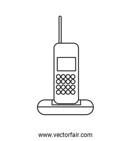 cordless phone communication device outline