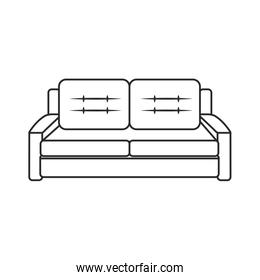 sofa furniture modern style outline