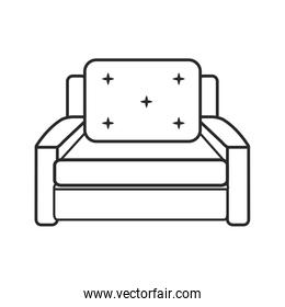 sofa chair comfort furniture outline