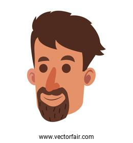 avatar face man beard adult smile