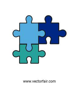 puzzle jigsaw piece business team