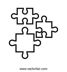 puzzle jigsaw piece business team outline