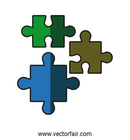puzzle pieces jigsaw strategy shadow