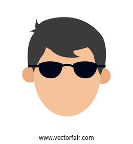 character man male glasses image
