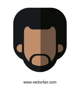 faceless head african man bearded people image