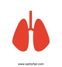 pictogram lung human organ healthycare icon