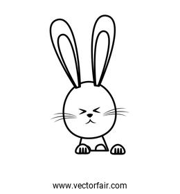cute easter bunny funny animal line