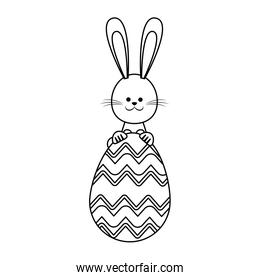 happy easter rabbit decoration party line