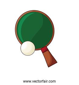 ping pong sport racket and ball hobby