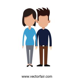 cartoon couple holding hand romantic image