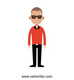 character man standing casual clothes image