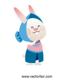 fun easter girl bunny with cap and dress