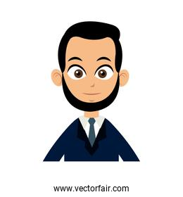 character man business with suit and tie image