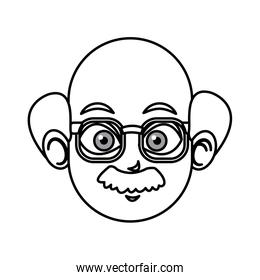 outlined head man charatcer image