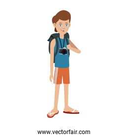 young boy travel toruism package