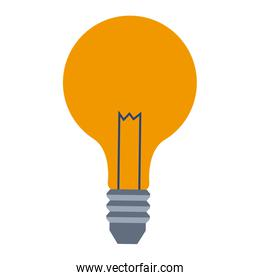 bulb lamp creative business on white background