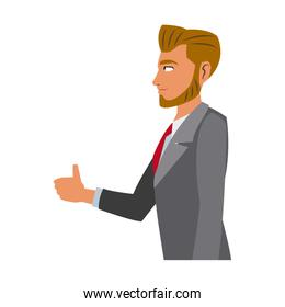character business man with suit