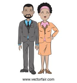 business people team standing, businessman and businesswoman wear suit