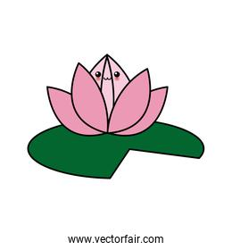 kawaii flower lotus cartoon design