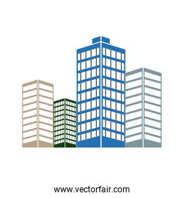 skyscrapers buildings. towers city business architecture, apartment and office building, urban style