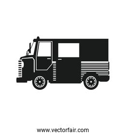 delivery service. truck fast shipping. postal business transport silhouette