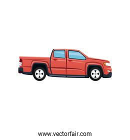 red pickup truck vehicle transport
